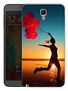 """Humor Gang Free Woman With Balloons On A Beach Printed Designer Mobile Back Cover For """"Samsung Galaxy Note 3"""" (3D, Matte, Premium Quality Snap On Case)"""
