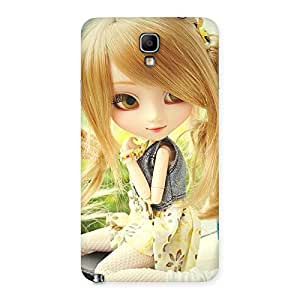 Cute Smiling Doll Multicolor Back Case Cover for Galaxy Note 3 Neo