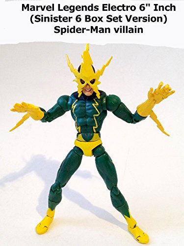 "Review: Marvel Legends Electro 6"" Inch (Sinister 6 Box Set Version) Spider-Man villain"
