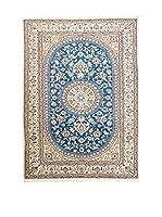 Navaei & Co. Alfombra Persian Nain Extra 9 Lah Azul/Multicolor 245 x 158 cm
