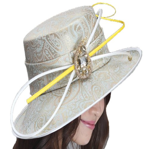 Winter Derby Satin Ribbon Ladies Dress Church Hat Floral Winter Dress Hat