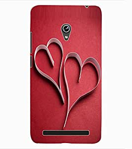 ColourCraft Love Hearts Design Back Case Cover for ASUS ZENFONE 6 A600CG