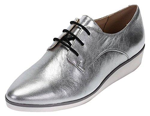 ClarksCressida Grace - Scarpe Stringate Donna , Grigio (Grau (Silver Leather)), 41