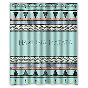 custom novelty item bath curtain home decor hakuna matata