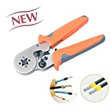 IWISS Crimper Plier HSC8 6-4 Self-adjustable Crimping Tools Used for 0.25-6.0mm2 (AWG23-10)Cable End-sleeves--Change the color of handle/Delivery Randomly