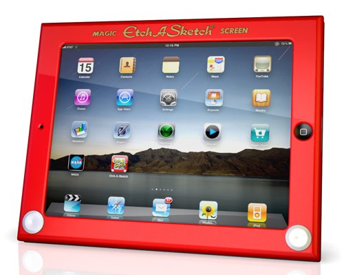 Headcase Etch A Sketch Hard Case For Ipad - Red front-272555