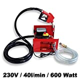 Self Priming Bio Fuel Oil Diesel 230V/600W 40l/min Transfer Pump H/D Portalbe