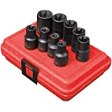 Sunex 2690SE 1/2-Inch Drive External Star Impact Socket Set, 9-Piece