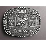 SCARCE ***2004 NATIONAL FINALS RODEO*** HESSTON WRANGLER NFR -- COLLECTOR BUCKLE -- Bull Riding -- Mint !!
