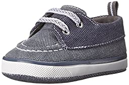 Baby Deer Canvas Deck Shoe (Infant/Toddler), Navy/Grey, 1 M US Infant