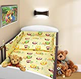 COT BUMPER 100 COTTON PADDED FOR BABY FIT COT 120x60 140x70 STRAIGHT 190cm to fit cot 140x70cm Owls Ecru