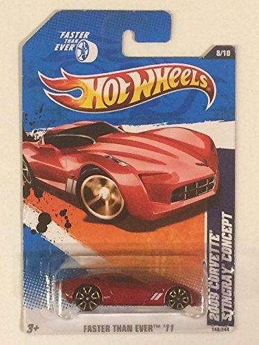 2011 Hot Wheels 2009 Corvette Stingray Concept Red #148/244 - 1