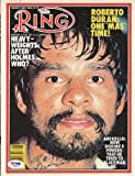 Roberto Duran Autographed Signed Magazine Cover #S42297 - PSA/DNA Certified - Autographed Boxing Magazines