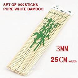 SYGA Bamboo Skewers 10 Inches (1000 sticks)