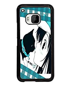 Fuson Cute Girl Back Case Cover for HTC ONE M9 - D3664