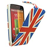Samrick Union Jack England Specially Designed Leather Flip Case for Motorola Moto G, Screen Protector, Microfibre Cloth