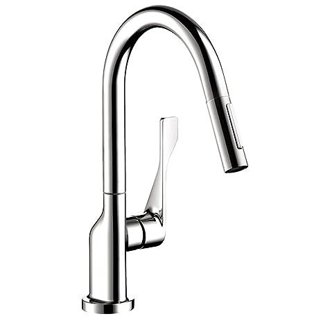 Axor 39836001 Citterio Pull-Down Prep Kitchen Faucet, Chrome