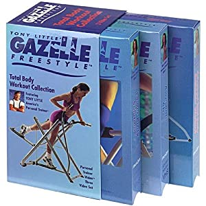 Fitness Quest Gazelle Freestyle Total Body Workout 3 Pack VHS