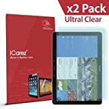 iCarez® [HD Clear] Highest Quality Premium Screen Protector for Samsung Galaxy Tab Pro 12.2 / Note Pro 12.2 High Definition (HD) Ultra Crystal Clear & anti-bacterial & anti-Scratch & bubble-free & reduce fingerprint & No rainbow & washable Screen Protector **PET Film Made in Japan** Easy install & Green healthy Product with Lifetime Replacement Warranty [2 Pack] - Retail Packaging 2014
