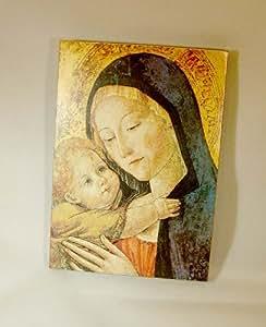 """Madonna and Child Gottesmutter Mit Kind Icon 5 3/4"""" X 4"""""""