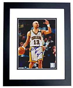 Mark Jackson Autographed Hand Signed Indiana Pacers 8x10 Photo - BLACK CUSTOM FRAME by Real+Deal+Memorabilia