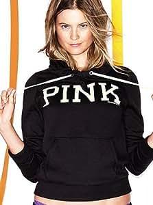 Victoria's Secret Pink Signature Pullover Hoodie Medium Black