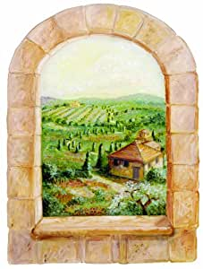 Wallies Vinyl Tuscan Window Decals Peel and Stick Wall Art ...