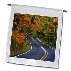 Danita Delimont - Autumn - Autumn, Highway 41, Copper Harbor, Michigan - US23 CHA0101 - Chuck Haney - 12 x 18 inch Garden Flag (fl_91155_1)