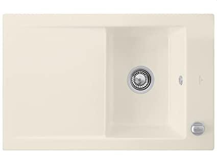 Villeroy & Boch Timeline Ivory Ceramic Sink Kitchen Sink Fitting Beige 45
