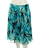 Jones New York Collection Long Center Seam Gored Skirt Indigo Multi
