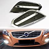 GOOACC® LED DRL Driving Daytime Running Day Fog Lamp Light For 2011 2012 2013 Volvo S60