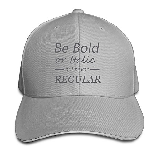 YLSD Be Bold Or Italic Never Regular Unisex Washed Twill Sandwich Bill Cap Adjustable Peaked Baseball Cap Fashion Golf Hat Cool Baseball Caps & Golf Capsfashion Baseball Golf Hat Ash (Lil Martin Guitar compare prices)