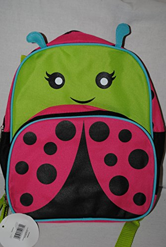 "Safari Animals Collection Toddler 13"" Backpack Ladybug"