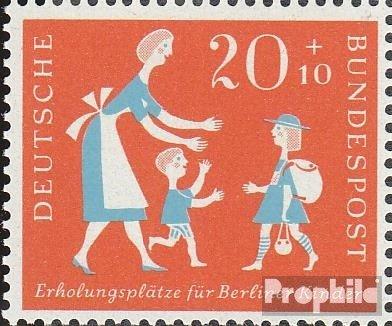 Germania (RFT) 251I, blu Strips broken (Campo 5) MNH 1957 Luoghi ricreativi per Berlino Bambini (Francobolli)