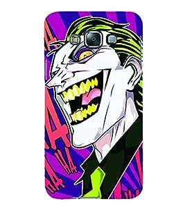Smiley Fun Joker 3D Hard Polycarbonate Designer Back Case Cover for Samsung Galaxy E7 :: Samsung Galaxy E7 E700F (2015)
