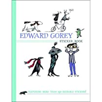 Edward Gorey Sticker Book Paperback