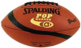 Spalding 62-9528 Pop Warner Composite Leather Youth Football (11yo-14yo)
