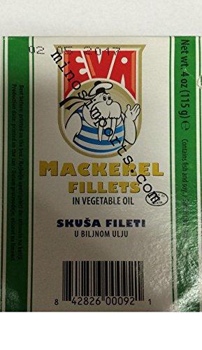Eva Mackerel Fillets In Vegetable Oil 115G Pack Of 5 Total 575G