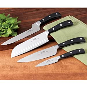 CHEFS Knife Set with Case, 4 piece