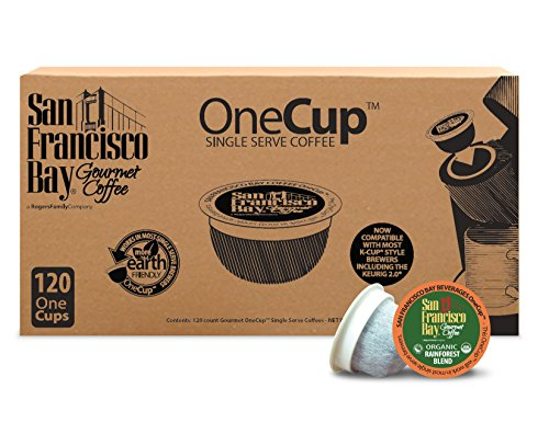 San Francisco Bay OneCup, Organic Rainforest Blend, 120 Single Serve Coffees (San Francisco Bay Keurig Coffee compare prices)