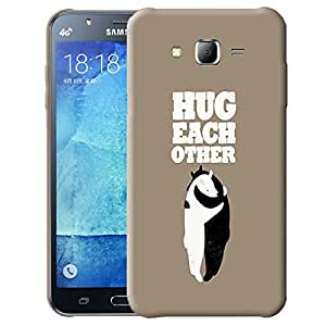 Theskinmantra Hug Each Other back cover for Samsung Galaxy J7