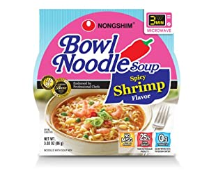 Nongshim Spicy Shrimp Noodle Bowl 303-ounce Pack Of 12 from NONGSHIM
