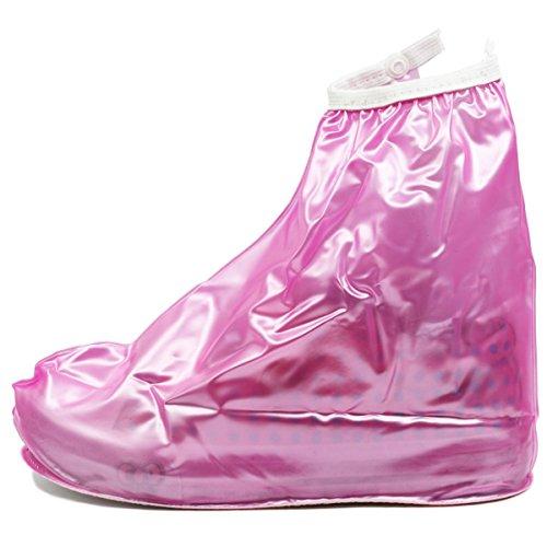 Copriscarpe da pioggia e neve alla moda per i bambini, proteggere le tue scarpe (S, fit for UK 9Kids-UK11Kids inner shoes, Pink)