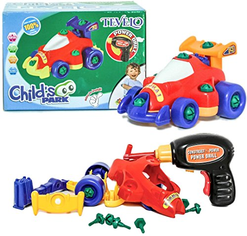 Tevelo Take-A-Part Racing Car Assemble/Disassemble with Drill and Tools (Kids Power Tools Car compare prices)