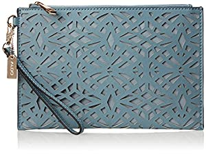 Aldo Whitebread Clutch Handbag,Dusty Blue,One Size