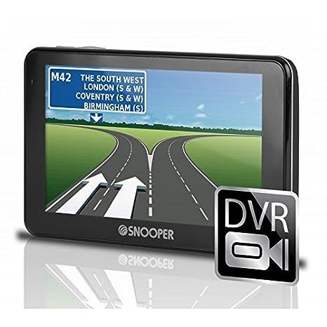 Snooper Syrius PKW-système de navigation SC5700DVR - DVR-Unfall-FahrtenrekorderPortables PKW-système de navigation avec 5 Zoll (12,7 cm) Display, Multimediasystem, Ruckfahrkameraanschluss & DVR-HD Fahrtenrekorder