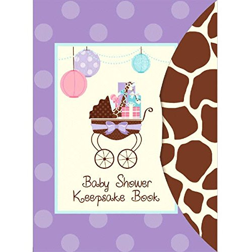 "Amscan Modern Mommy Baby Shower Party Keepsake Book, 8-1/4 x 6"", Purple"