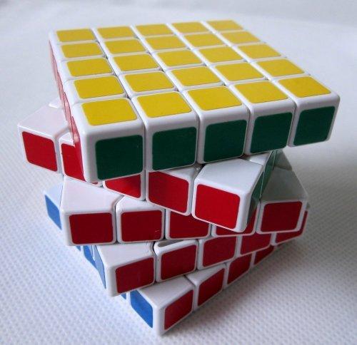 ShengShou 5x 5 x 5 V III Speed Cube Puzzle, 6.5 cm, White - 1