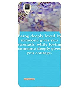 PrintDhaba Quote D-3719 Back Case Cover for OPPO F1 (Multi-Coloured)