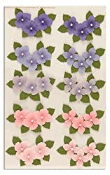 Martha Stewart Crafts 3 Dimensional Stickers Hydrangea Purple/Pink By The Package